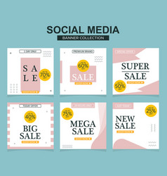 Social media banners pack for website and mobile vector