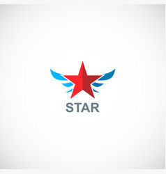 star wing abstract emblem logo vector image