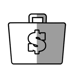 suitcase money business accessory shadow vector image