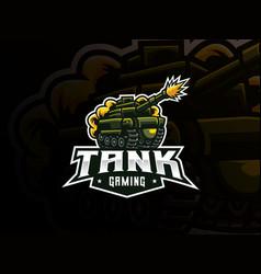 tank mascot sport logo design vector image
