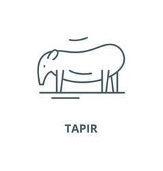 Tapir line icon linear concept outline vector