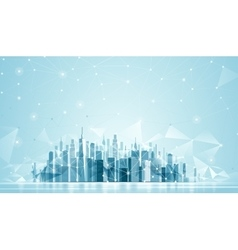 Urban Landscape Global network vector image