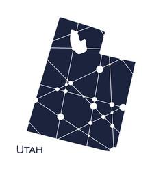 utah state map vector image