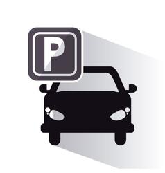 vehicle parking zone design vector image