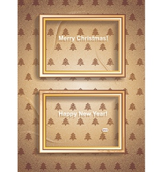 Vintage Merry Christmas Frames vector image