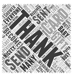 When to send thank you cards word cloud concept vector