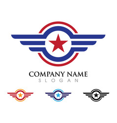Wing logo icon vector