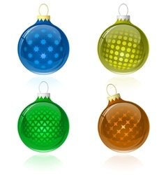 christmas balls collection vector image vector image