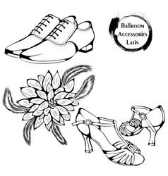 dance line ballroom latina accessories vector image vector image