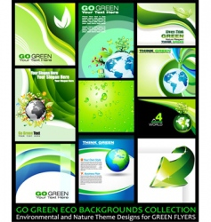 eco backgrounds vector image vector image