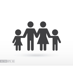 Family flat icon Sign Family vector image