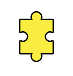 puzzle element to game and teamwork vector image