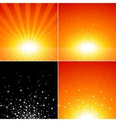 Star Burst Set vector image vector image