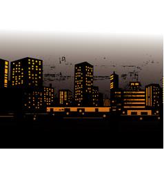 urban skylines vector image