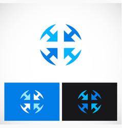 arrow round circle company logo vector image