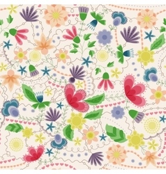 Fantasy flowers seamless pattern vintage vector image vector image