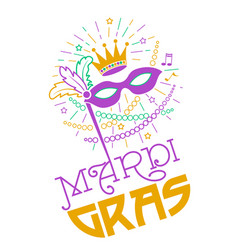 mardi gras party mask poster vector image vector image