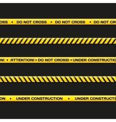 Police line do not cross under vector