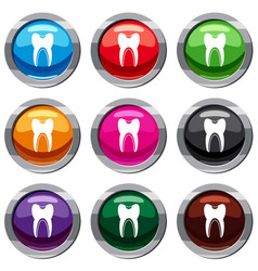 tooth set 9 collection vector image vector image
