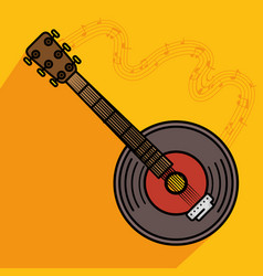 banjo musical instrument icon vector image