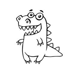 cartoon friendly dragon vector image vector image