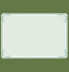 green background and frame vector image vector image