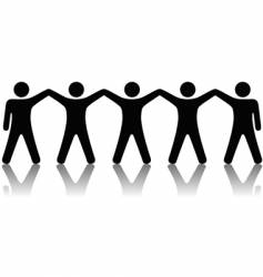 group of people celebrate teamwork vector image