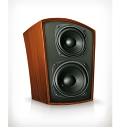 Audio speaker in plane wooden body vector image vector image