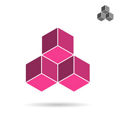 Cubes collected together cube icon vector image vector image