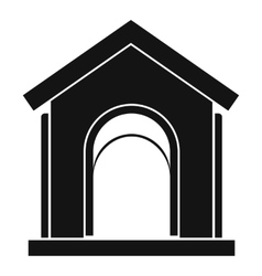 Toy house icon simple style vector image