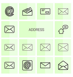 14 address icons vector