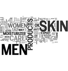 A note from women to men get your own skin care vector
