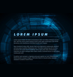 Abstract dark blue technical background flyer vector