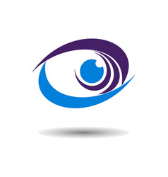 abstract eye wave logo icon vector image