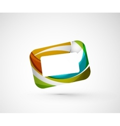 Abstract geometric company logo frame screen vector image