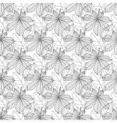 Autumn seamless leaf pattern 11 vector image