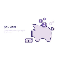 Banking business concept money savings template vector