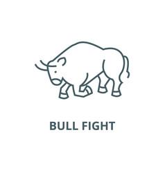 bull fightspain line icon bull fight vector image