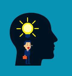 businessman thinking idea concept business vector image