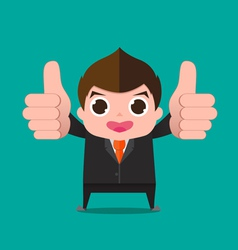 Businessman very good cartoon vector