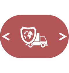 Cargo insurance icon vector
