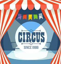 Circus postcard template design elements vector