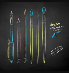 collection drawing and art tools vector image