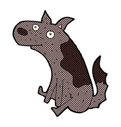 Comic cartoon sitting dog vector