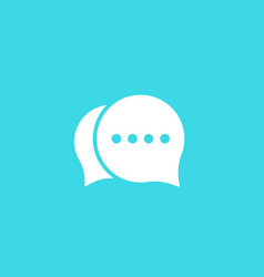 comment chat icon vector image
