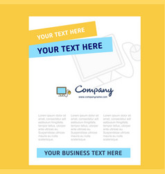 computer title page design for company profile vector image