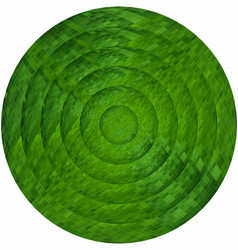 Concentric green circles in mosaic vector
