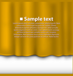 Curtain of yellow color vector