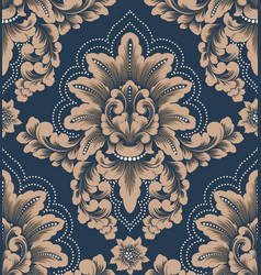 Damask seamless pattern element classical vector