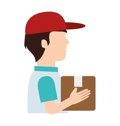 Delivery service worker avatar vector